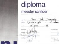 meester schilder diploma
