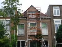 Nieuw voegwerk in grachtenpand (Leeuwarden)